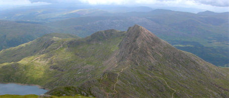 Guiding day on Llywydd ridge, part of the famous Snowdon Horseshoe