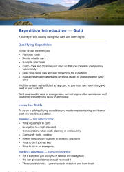 Click here to download the 'Introduction to DofE Expeditions — Gold' teaching resource