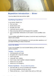 Click here to download the 'Introduction to DofE Expeditions — Silver' teaching resource