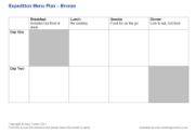Click here to download the 'DofE Expedition Menu Plan — Bronze' teaching resource