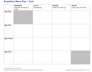 Click here to download the 'DofE Expedition Menu Plan — Gold' teaching resource