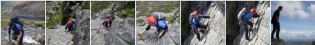 Photo Gallery: Multi-pitch climbing on Grooved Arete (Tryfan), August 2009