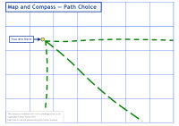 Click here to download the 'Map and Compass &mdash; Path Choice' teaching resource