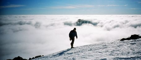Advanced Navigation course: Cloud inversion on a winter day in the Scottish Highlands