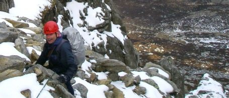 A winter scrambling course on the east face of Tryfan